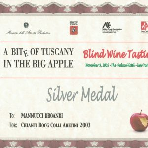 A BITE OF TUSCANY IN THE BIG APPLE CHIANTI COLLE ARETINI 2003
