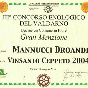 CONCORSO ENOLOGICO VALDARNO 2010